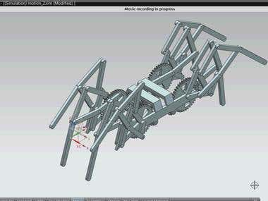 Mechanical spider animation in NX8
