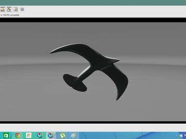Bird like CAD model