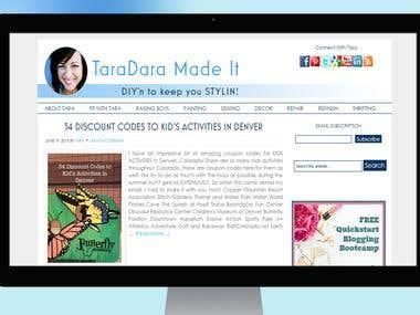 Personal Blog For Tara