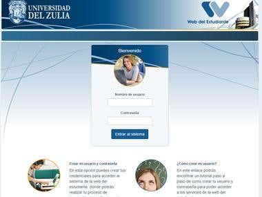 Web del Estudiante Aplicación