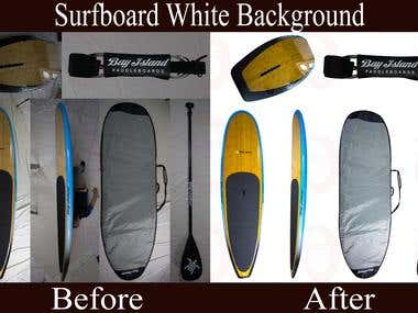 Surfboard Background Remove Sample