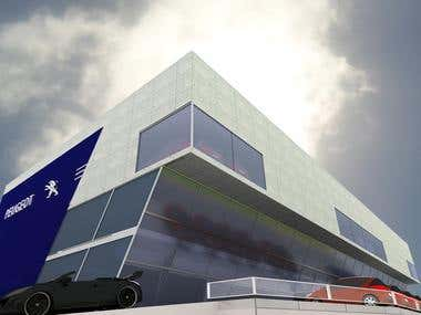 PEUGEOT Car Showroom Disgn @ Australia