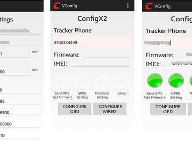 GPS device configuration app