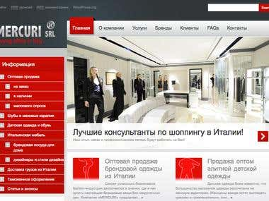 WordPress web-site for Italian buying company in Russian