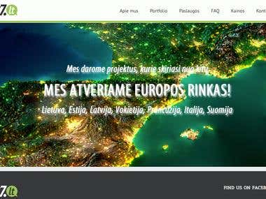 WordPress web-site for IT company in Lithuania