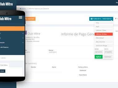 Sistema web de gestión - Club Mitre