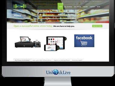 Wordpress : UnlockliveRetail-E-commerce-Service-for-Every-Re