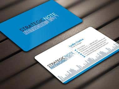 Design Contemporary, Modern Business Cards for StrategicNote