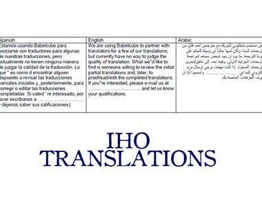 English to Spanish and Arabic translation