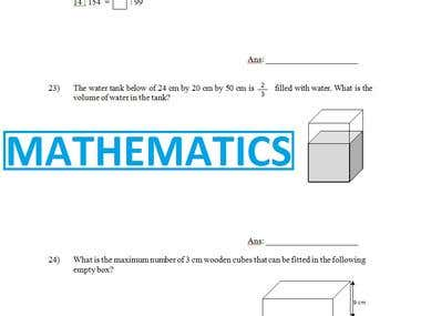 6-Mathematics : Book recreation