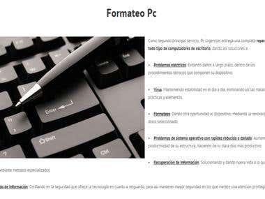 Redacción página informática