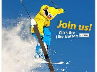 Ski Transfer Advertisement  Design