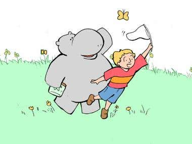 Boy and Hippo