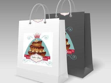 Sacolas cakes Fany
