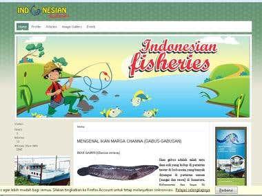 Web Design Indonesianfisheries.com With Joomlah
