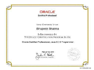 Oracle certified java Programmer