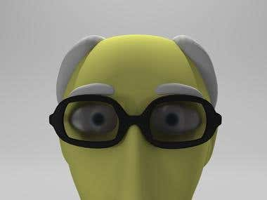 3D cartoon characters rigged for animation