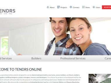 Tendrs Website