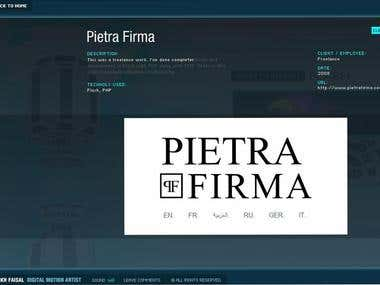 PietraFirma Website