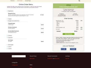 Wordpress Plugin - Restaurant Online Ordering