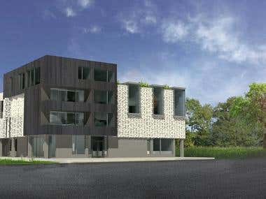 Architecture post-production rendering