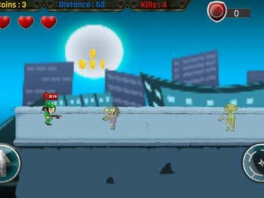 Side scroller android game