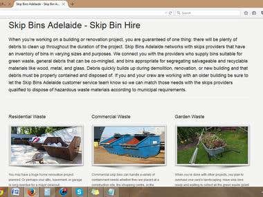 SkipBins Australia-Website Contents