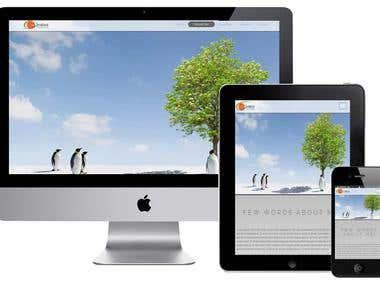One Page Portfolio Responsive Website
