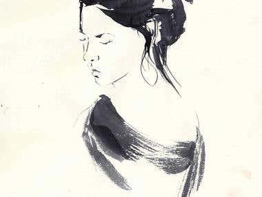 Brush sketch