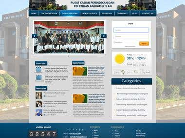 Design a Government Website Front/Home Page