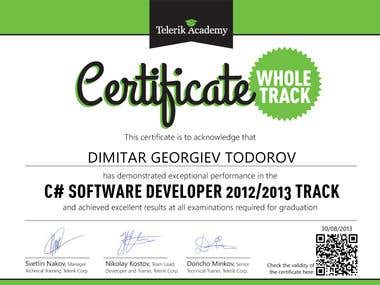 C# Software Developer Certificate