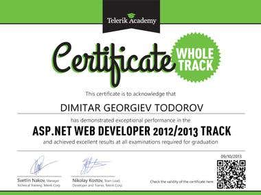 ASP.NET Web Developer Certificate
