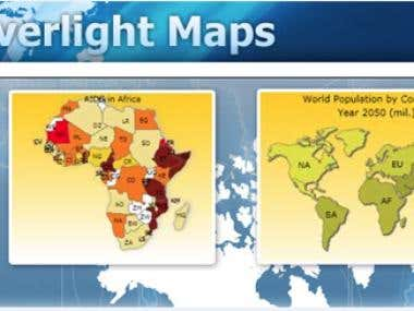 Silverlight World Maps