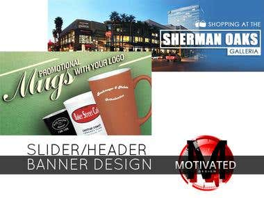 Slider/Header Banner Design