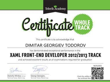 WPF Developer Certificate