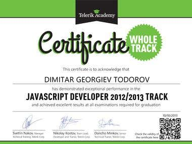 JavaScript Developer Certificate