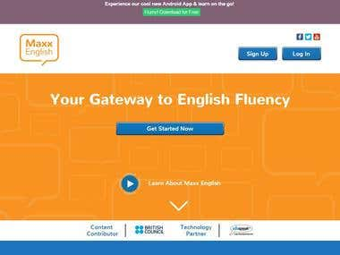 http://maxxenglish.in (eLearning Portal) English