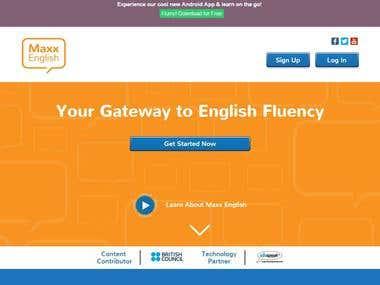 http://maxxenglish.in (eLearning Portal) English