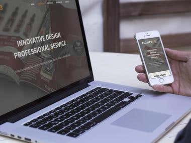Eighty3 Fully Responsive Website