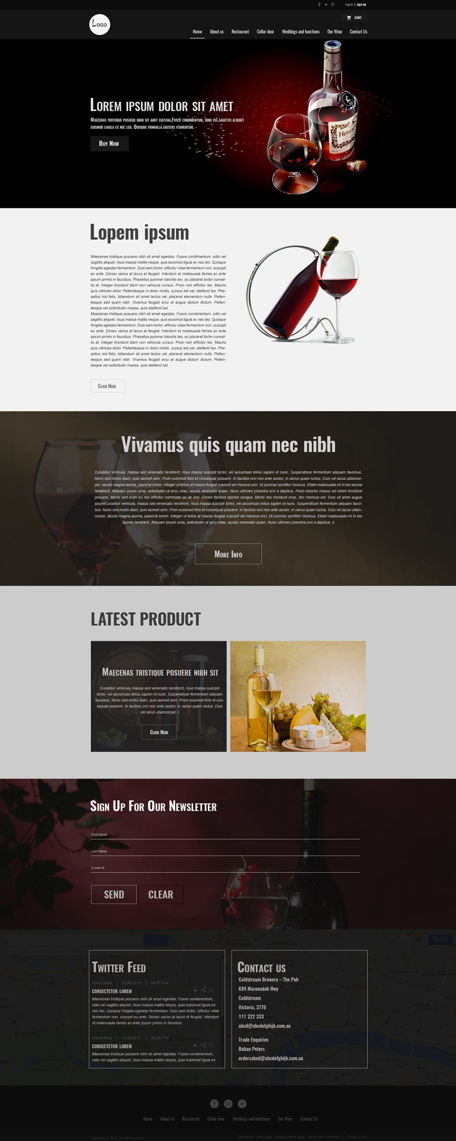 Wine Website - Wordpress Woo-commerce