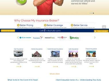 Insurance Website - Joomla