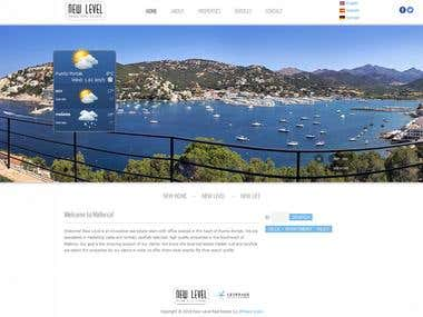 Weather Site - Wordpress