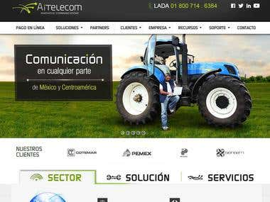 http://aitelecom.net (PSD to Responsive) Wordpress