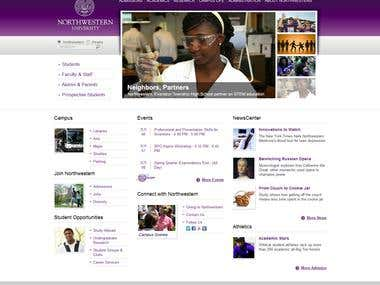 Northwestern University Website Project