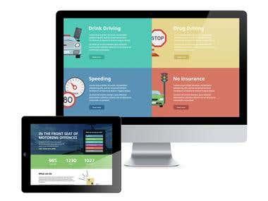 Motoring Offences website design