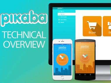 iOS / Android / Web | Pikaba Platform - Architecture
