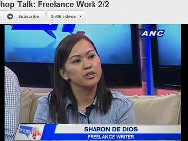 Interview with ANC Shop Talk Promoting Freelancer.ph