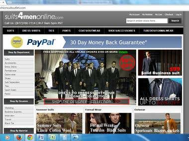 Suits for men online.