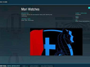 Mari Watches Website
