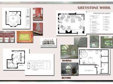 Freelance work with Greystone Interiors
